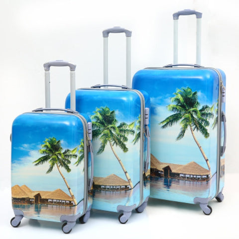Pc Printing Pattern Suitcase,Portable Password Box,Universal Wheel Trolley Case,Wholesale Rolling