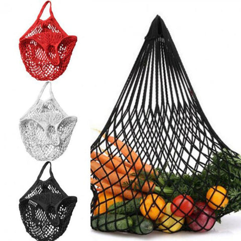 2019 New Mesh Shopping Bag Reusable String Fruit Storage Handbag Totes Women Shopping Mesh Net