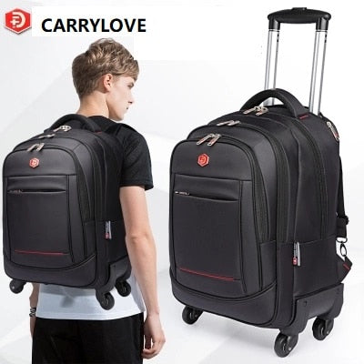 Carrylove Business Travel Bag 18 Size  Suitable For Short-Term Travel Oxford Luggage Spinner