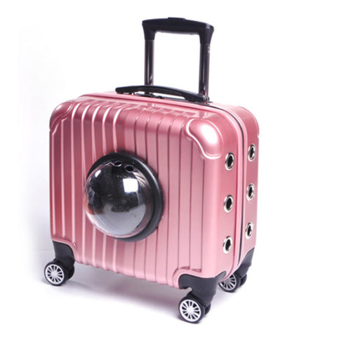 16-Inch Multi-Function Trolley Case,Pet Password Box,Cat Dog Space Pet Luggage Shell,Portable Pet