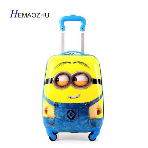 Hemaozhu  2018 Cartoon Kid'S Travel Trolley Bags Suitcase For Kids Children Luggage Suitcase