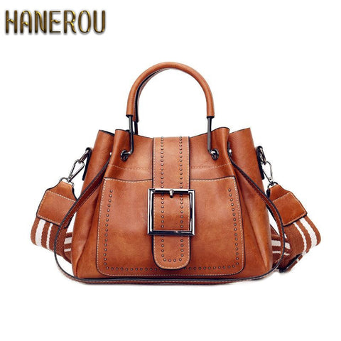 Bags For Women 2019 New Fashion Pu Leather Handbags Crossbody Bag For Women Vintage Bucket Shoulder