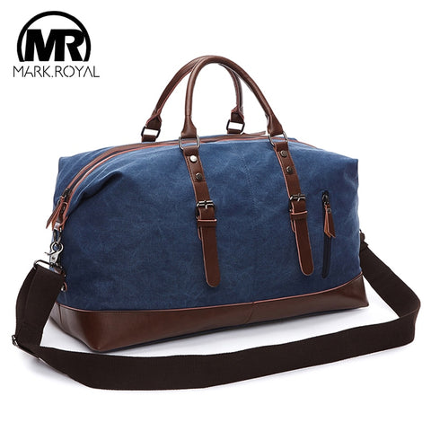 Markroyal Mens Duffel Canvas Bags Overnight Travel Bags Large Capacity Luggage Wild Bag Leisure