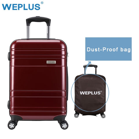 Weplus 24 Inch Luggage Pc Shell  Metal Drawbar Rolling Luggage Bag Trolley Case Travel Suitcase
