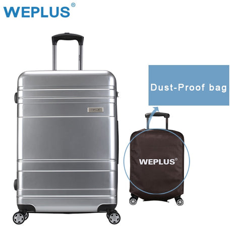 Weplus Rolling Luggage Vintage Travel Suitcase With Spinner Wheels Carry-On Trolley Lightweight