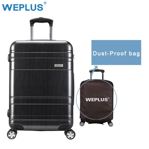Weplus 24 Inch Rolling Luggage Suitcase Boarding Case Travel Luggage Drop Shipping Spinner Cases