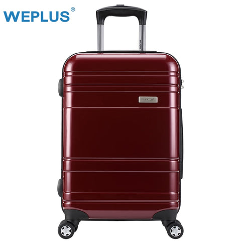 Weplus Pc Suitcase Colourful Rolling Luggage Travel Suitcase With Wheels Tsa Lock Spinner Custom