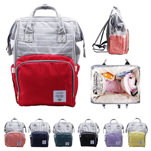 Fashion Waterproof Multi-Functional Baby Diaper Backpack Maternity Large Capacity Stylish Nappy Bag