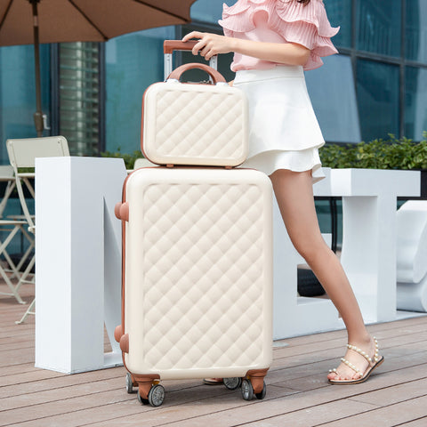 "2 Piece Set Suitcase,Small Fresh Universal Wheel Luggage,20""Boarding Box,24""/26""Men And Women Trend"