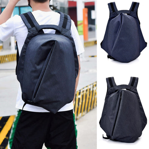 Men Backpack Students Solid Color Anti-Theft Backpacks High-Capacity  Multifunction Rucksack