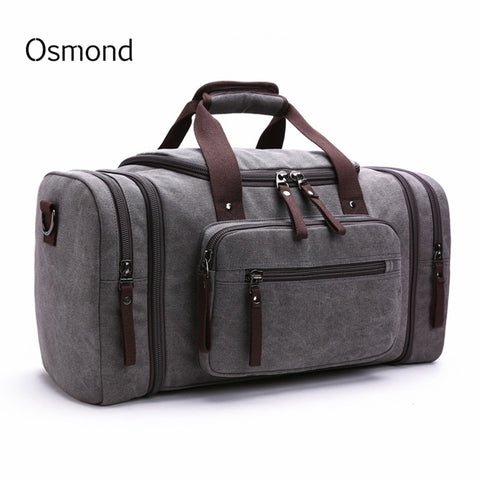 Canvas Travel Bags Weekend Shoulder Bags Large Capacity Men Hand Luggage Travel Duffle Bags