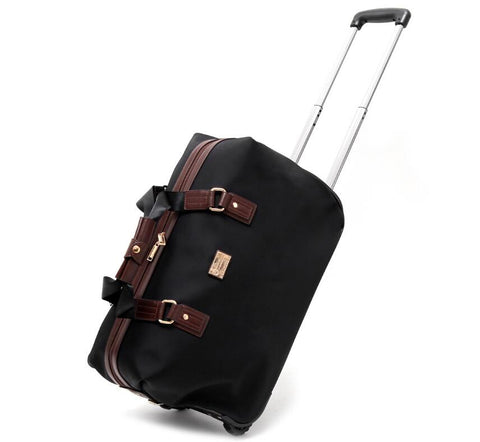 Travel Trolley Bag 20 Inch Cabin Size Oxfor Wheels Bag 24 Inch Women Rolling Luggage Bags Wheeled
