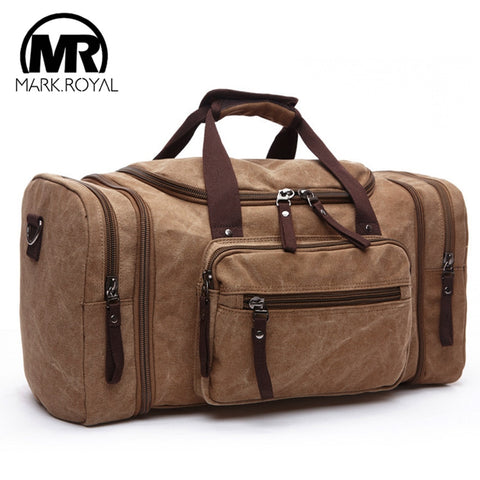 Markroyal Mens Canvas Travel Handbag Large Capacity Luggage Bags Hanging Travel Bags Carry On