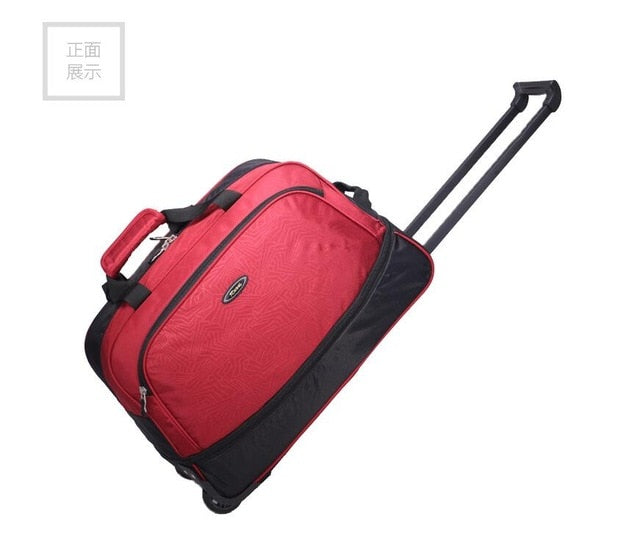Men Cabin Rolling Luggage Bag With Wheels Nylon Travel Trolley Bags Baggage Bag Wheeled Bags For