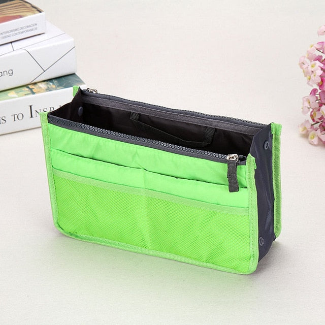 Organizer Insert Bag Women Nylon Travel Insert  Handbag Lady Makeup Purse Large Liner Lady Makeup