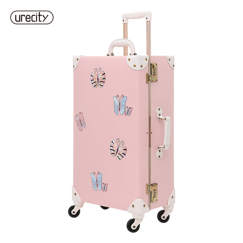 2018 New Travel Luggage Bag Brand Suitcase Leather Digital Luggage Scale Butterfly Brand Children