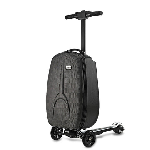 2 In 1 Suitcase &Scooter 3-Wheel Electric Suitcase Scooter Polyester Luggage Aluminum Alloy Frame 30L 120kg Load Carrying 15km/h