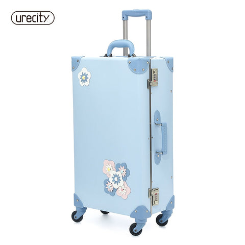 2018 New  Travel Suitcase Spinner Luggage Rolling Floral Flower Sample Children Kids Suitcase