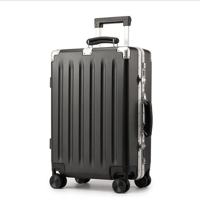 20''24'' Universal Wheel  Vintage Rolling Hardside Luggage Travel Suitcase With Wheels Leather