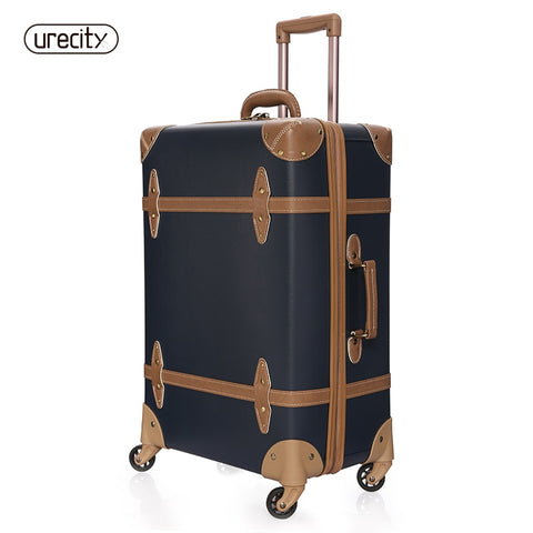 High Quality Suitcase Crocodile Skin Travel Luggage Retro Spinner Pp Pu Meterial Caary On Unisex