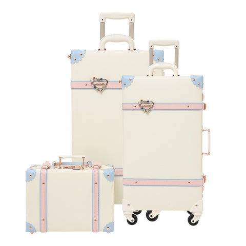 2019 Luggage Rolling Hardside Pu Girls Spinner Suitcase With Wheels 24Inch Luggage Sets Kids