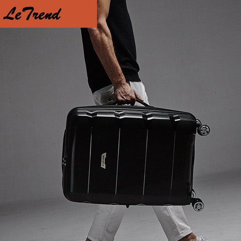 20 24 28 Inch Waterproof Rolling Luggage 100% PP Trolley Solid Travel Bag Boarding Bag Carry On Suitcases Trunk