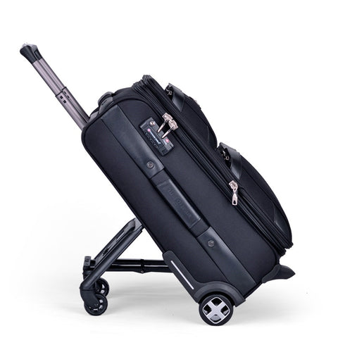 Business Travel Rolling Luggage Soft Airplane Suitcase Tsa Lock Clothing Carry On Trolley Fabric