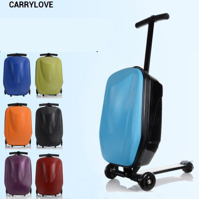 Carrylove Cartoon Luggage Series 21 Size Super Skateboard Pc  Rolling Luggage Spinner Brand