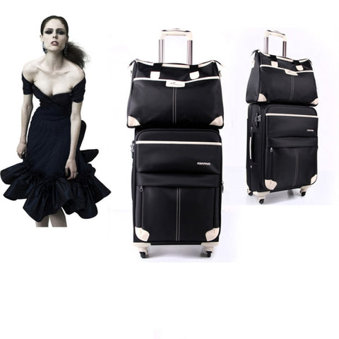 Sets Cloth Of Luggage,2 Piece Set Trolley Case,Waterproof Fabric Suitcase,Caster Travel Lock