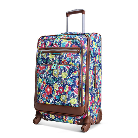 Women'S Boutique Carry-On Trolley Case,Universal Wheel Student Suitcase,Polyester Rolling