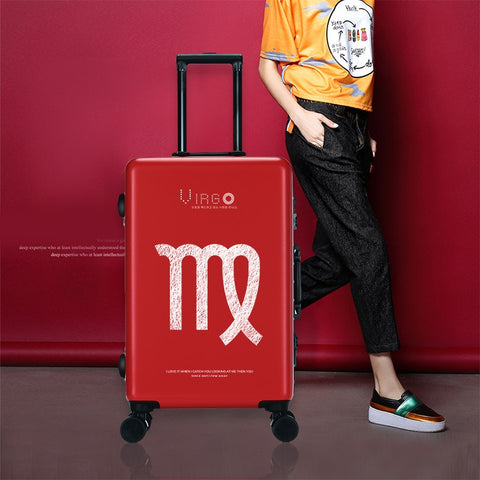 Traveling Luggage Bags With Wheels Spinner Unisex Cartoon Constellation Carry On Luggage Fashion