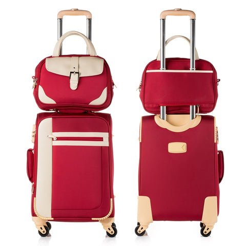 Hotsale!14 20 22 24 26Inches Female Travel Luggage Bags Sets On Universal Wheels,Girl Fashion