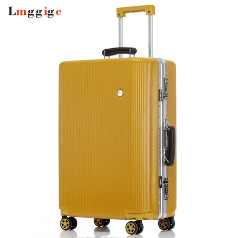 Aluminum Frame Suitcase,Multiwheel Luggage Carry-On,Nniversal Wheel Hardside Travel Box Drag