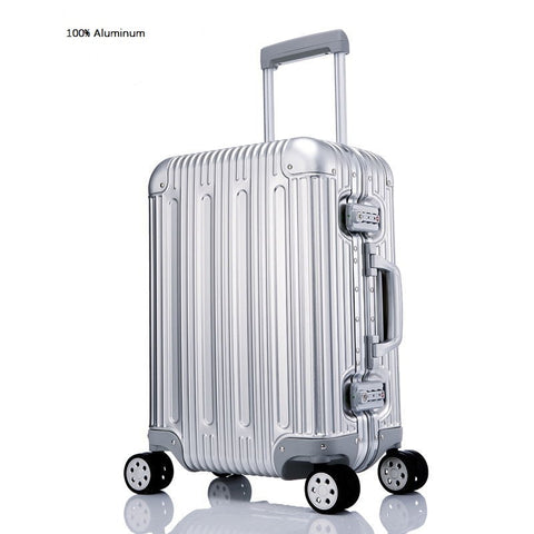 Carrylovenoble High Quality Aluminum-Magnesium Alloy Spinner Travel Brand Suitcase Hand Luggage