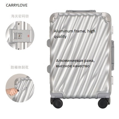 Carrylove All Aluminum Frame, Business Travel 20/24/28 Inch Size Pc Luggage Spinner Brand Travel