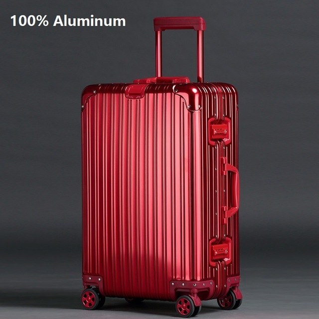 fc03f3f9c61 Travel Tale Noble High Quality Aluminum-Magnesium Alloy Spinner Travel  Brand Suitcase Hand