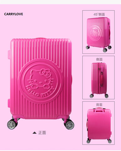 Carrylove Fashion 18/20/24 Inch Size High Quality High-End Fashion Cute Cat Abs Rolling Luggage