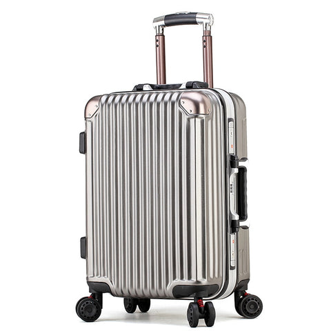 2018 Autumn And Winter New Fashion Aluminum Frame Trolley Case Pc Universal Wheel Business Suitcase