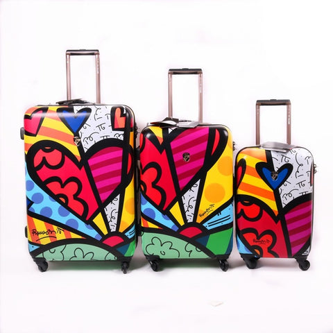 Printed Trolley Case,20-Inch Men And Female Boarding Box, 24/28 Inch Universal Wheel Password