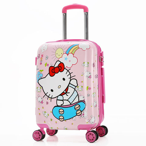 "Children'S Cartoon Trolley Suitcase 20"" Hello Kitty/Transformers/Spiderman Travel Suitcase"