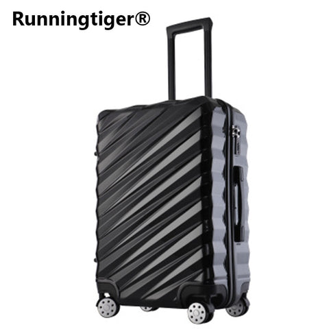 "20""24""26""28"" Aluminum Frame Luggage New Travel Suitcase With Spinner Rolling Trolley Case"