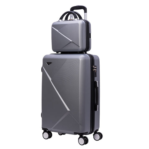Travel Suitcase Set Rolling Luggage Spinner Trolley Case  20Inch Boarding Wheel Woman Cosmetic Case