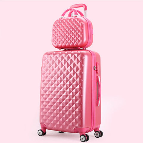 Travel Suitcase Set Rolling Spinner Luggage Set Trolley Case Boarding Wheel Woman Cosmetic Case