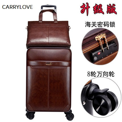 Carrylove Business Leisure 16/18/20/22/24 Inch Handbag+Rolling Luggage Advanced Material Travel