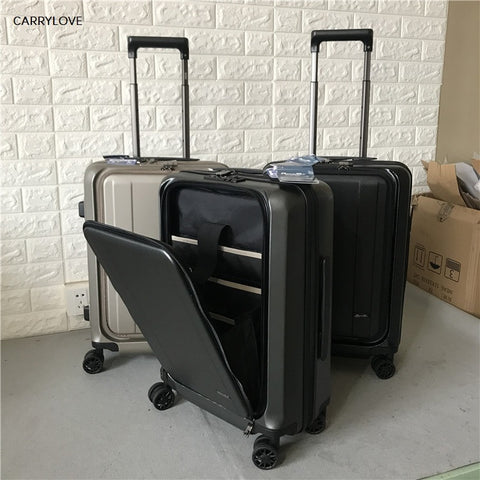 CARRYLOVE business luggage 20 size Export trade Multifunction PC Rolling Luggage Spinner brand Travel Suitcase
