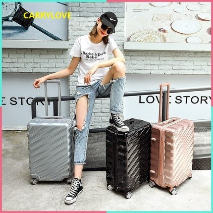 Carrylove High Quality Business Luggage Series 20/24/26/28 Inch Size Aluminum Frame Pc Rolling
