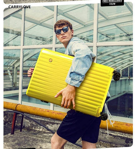 Carrylove Personality Retro High Capacity Luggage Series 20/24/26/29 Inch Size Pc Rolling Luggage