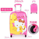 Waterproof Fashion Pu Luggage Bag ,Hello Kitty Girls Suitcase ,Children'S Trolley Case,Baby Wheel
