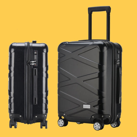 "Abs+Pc Hard-Shell Luggage,Carry-On Trolley Case,Rolling Suitcase,Trendy Password Box,20""Boarding"