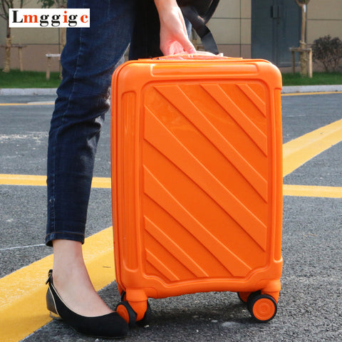 "Women High Quality Pc Rolling Luggage,New Travel Suitcase Bag ,20""24""Inch Universal Wheel Laptop"